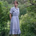 Vintage-Kleid-Outfit