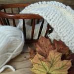 Herbst-Fotoecken-Spielerei mit angestrickter Babydecke