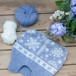 Sternen-Babydecke und Freitagsblümchen in Blau-Weiß